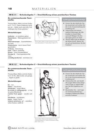 """""""Mario und der Zauberer"""" - Lernzielkontrolle und Evaluation"""