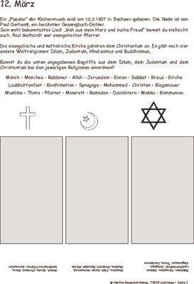 Paul Gerhardt geboren - 12.03.1607