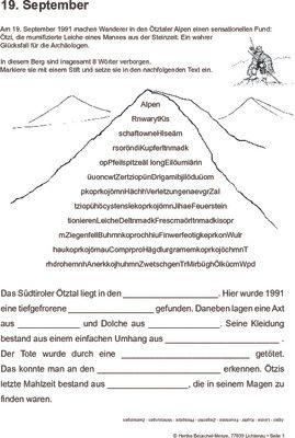 Ötzi entdeckt - 19.09.1991