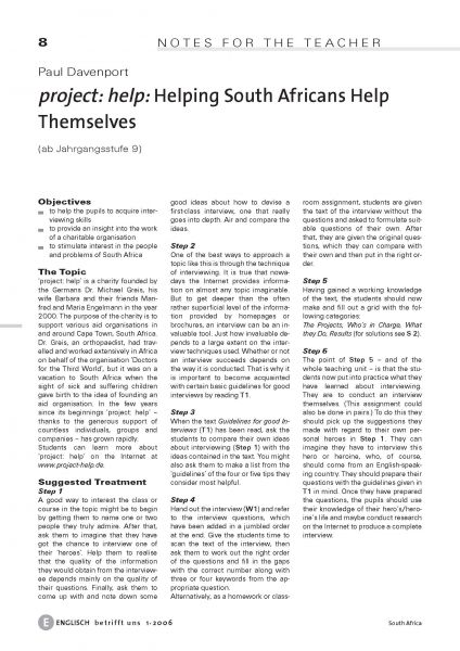 Helping South Africans Help Themselves