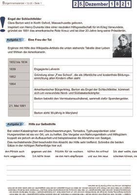 Clara Barton geboren - 25.12.1821