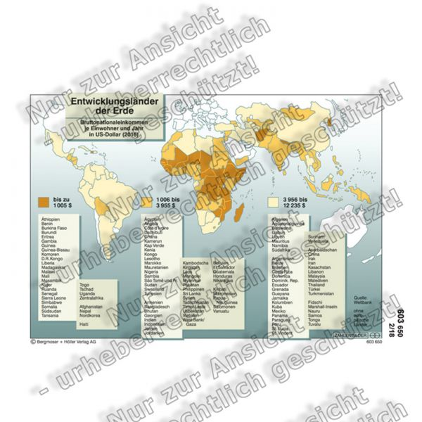 Entwicklungsländer der Erde