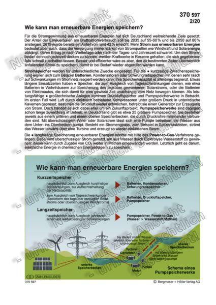 Wie kann man erneuerbare Energien speichern?