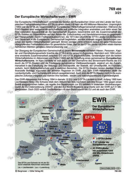 Der Europäische Wirtschaftsraum - EWR