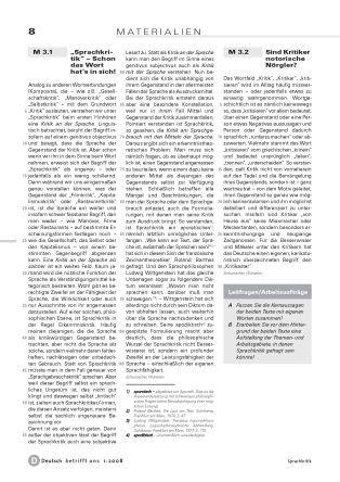 Sprachkritik: Kritik an und mit der Sprache