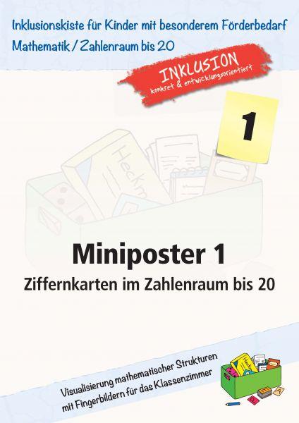 Miniposter 1: Ziffernkarten im Zahlenraum bis 20