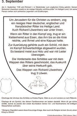 Richard Löwenherz wird zum König gekrönt - 03.09.1189