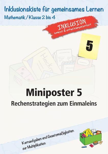 Miniposter 5 - Rechenstrategien zum Einmaleins