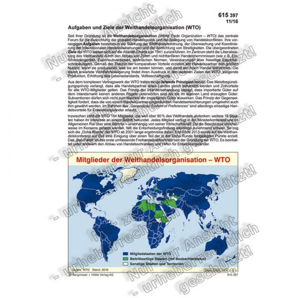 Aufgaben und Ziele der Welthandelsorganisation - WTO | Zahlenbilder ...