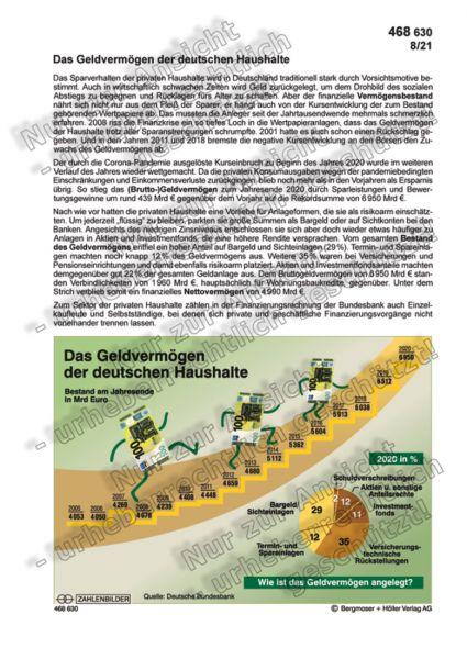 Das Geldvermögen der deutschen Haushalte