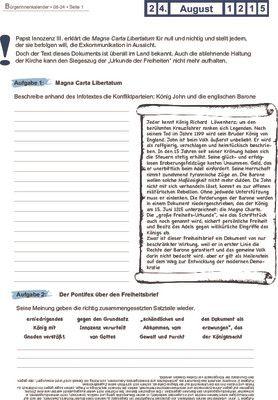 Magna Carta Libertatum - 24.08.1215