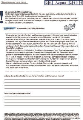 """""""Ethische Bank"""" TRIODOS erhöht Bilanz - 28.08.2014"""