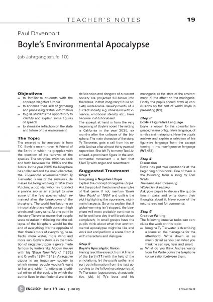 Boyle's Environment Apocalypse