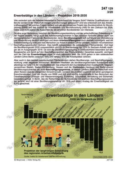 Erwerbstätige in den Ländern - Projektion 2018-2035