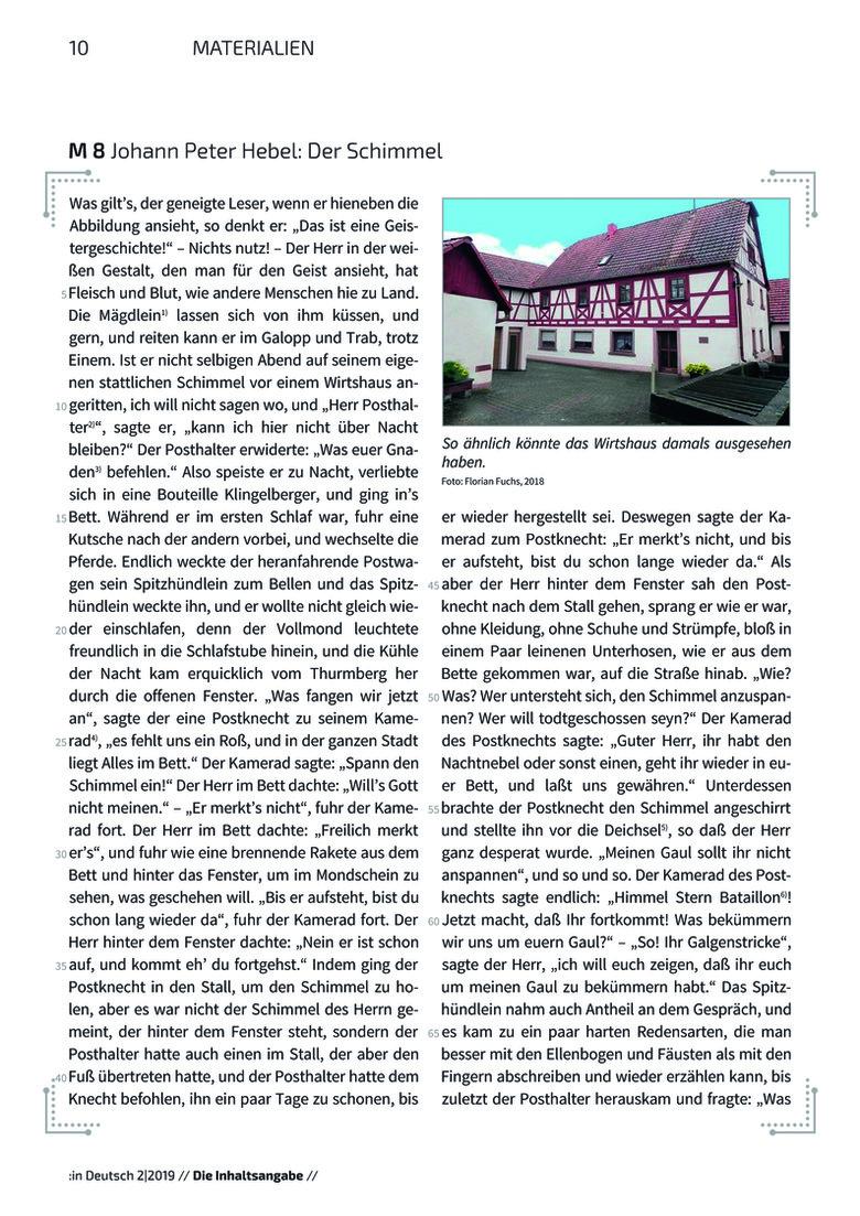 inhaltsangabe am beispiel der kalendergeschichte in deutsch deutsch sekundarstufe i. Black Bedroom Furniture Sets. Home Design Ideas