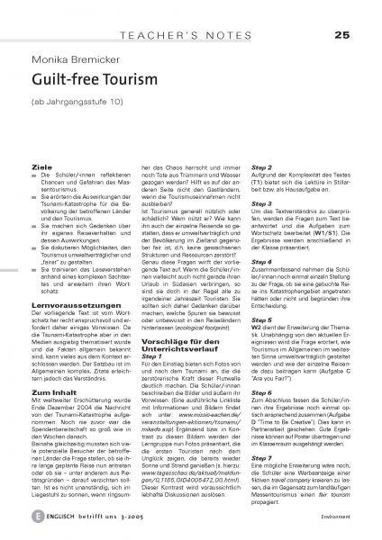 Guilt-free Tourism
