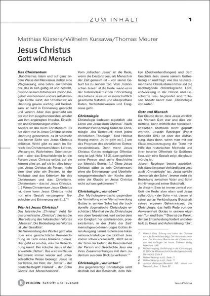 Jesus Christus - Bekenntniskrise und Mittelpunkt