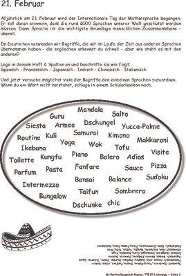 Tag der Muttersprache - 20. Februar