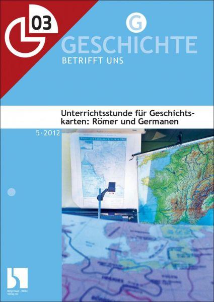 Unterrichtsstunde für Geschichtskarten: Römer und Germanen