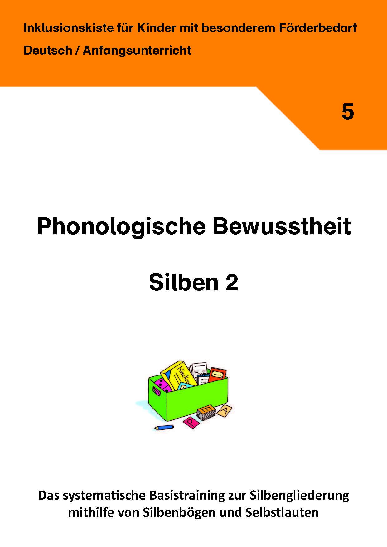 phonologische bewusstheit silben 2 inklusionskiste deutsch grundschule arbeitsbl tter. Black Bedroom Furniture Sets. Home Design Ideas