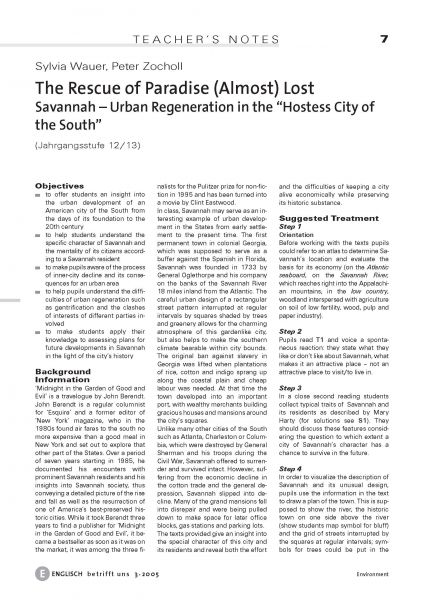 "Savannah - Urban Regeneration in the ""Hostess City of the South"""