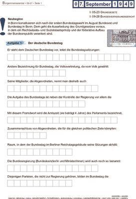 Erste Bundestagswahl - 07.09.1949