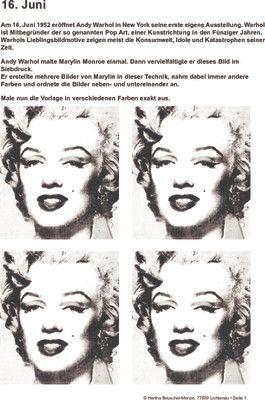 Andy Warhol und seine erste Ausstellung - 16.06.1952