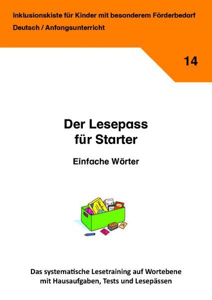 Der Lesepass für Starter: Einfache Wörter