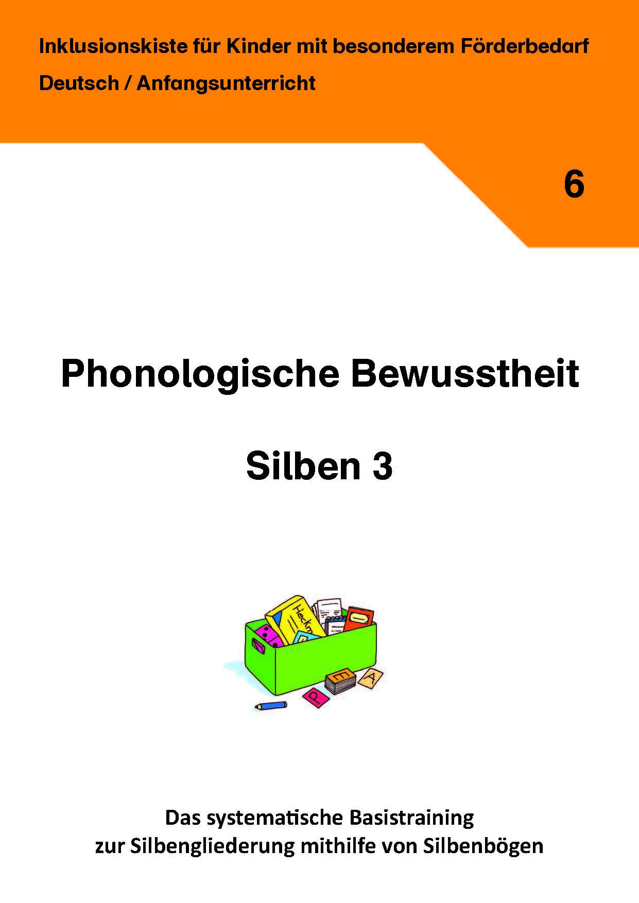 phonologische bewusstheit silben 3 inklusionskiste deutsch grundschule arbeitsbl tter. Black Bedroom Furniture Sets. Home Design Ideas