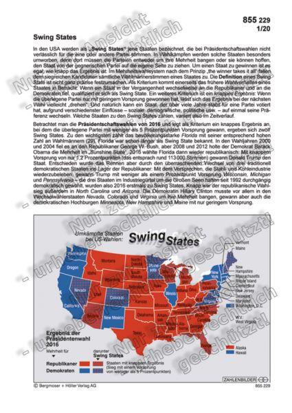 Swing States – Umkämpfte Staaten bei US-Wahlen