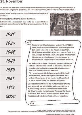 Hundertwasser-Bahnhof von Uelzen - 25.11.2000