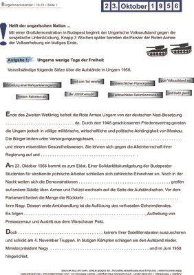 Ungarischer Volksaufstand - 23.10.1956