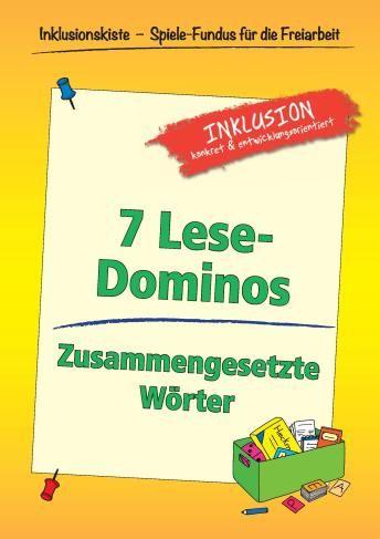 Freiarbeitsmaterial- 7 Lese-Dominos: Zusammengesetzte Wörter