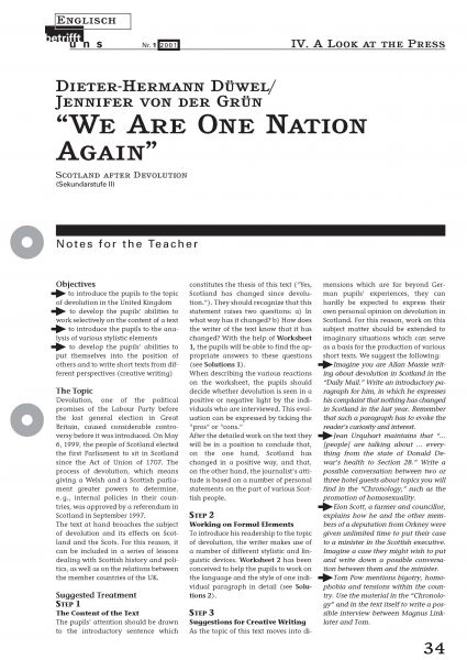 We Are One Nation Again - Scotland After Devolution
